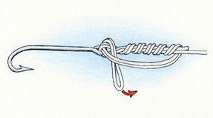 Вязание узла клинч