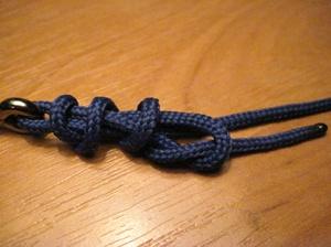 Схема, как вязать узел паломар
