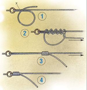 Как надёжно привязать крючок к леске