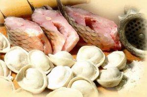 Пельмени с рыбой